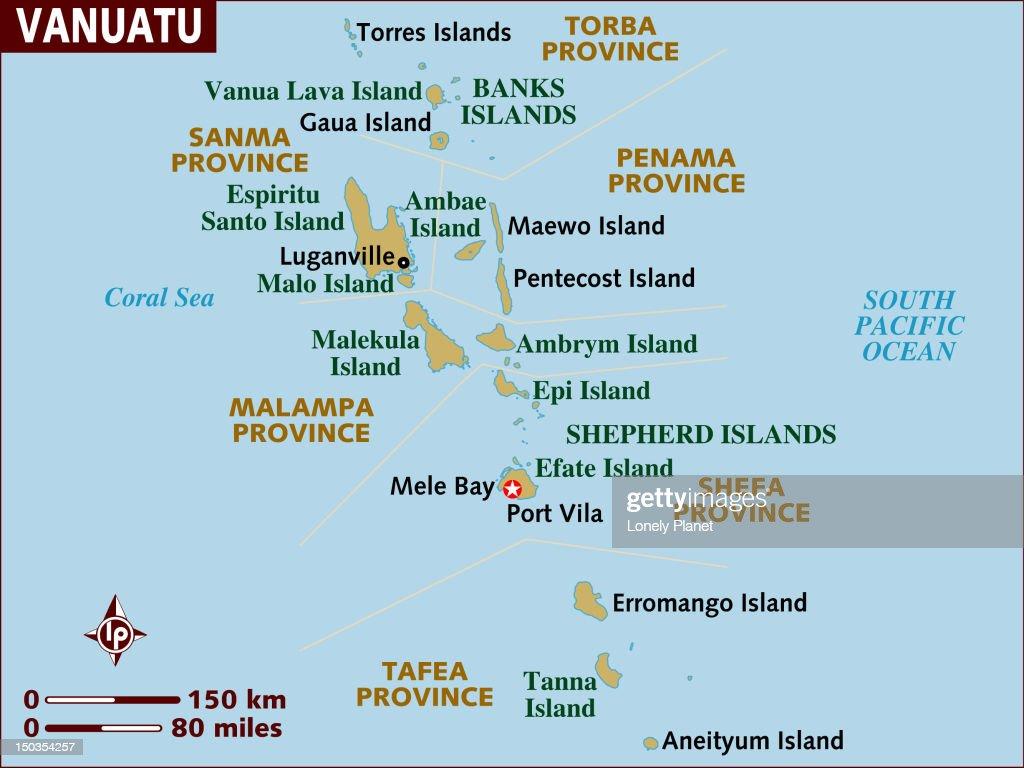 Map of Vanuatu. : stock illustration
