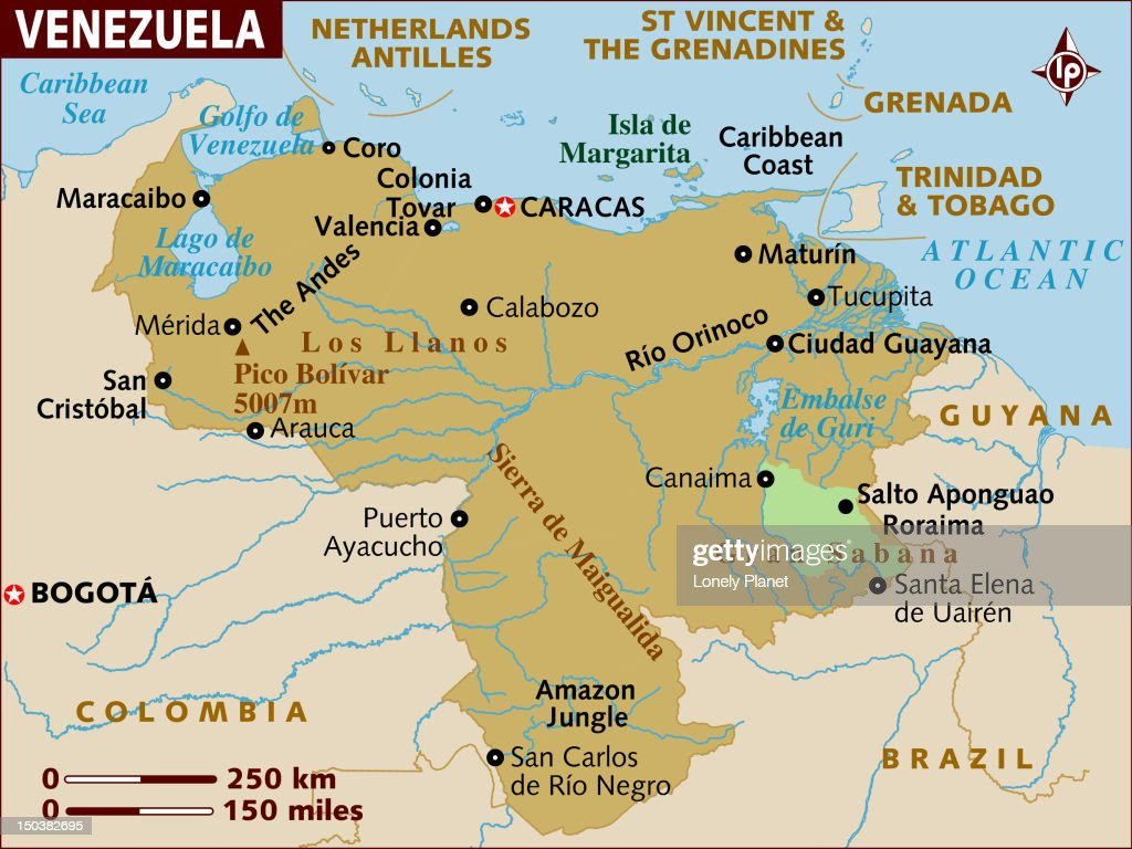 Map Of Venezuela Stock Illustration Getty Images