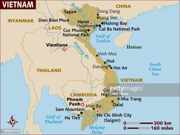 Map of Vietnam.