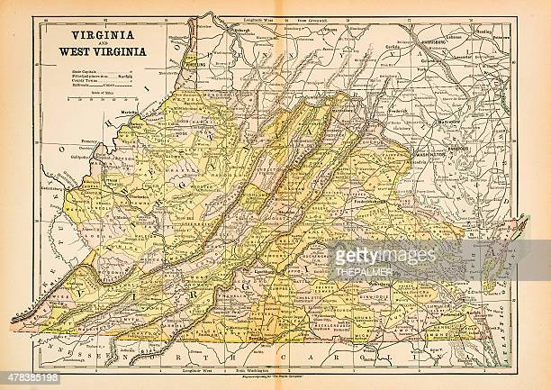 West Virginia Map Stock Illustrations And Cartoons