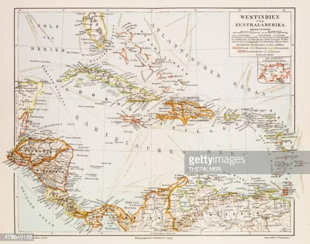 マップの西インド諸島 1897