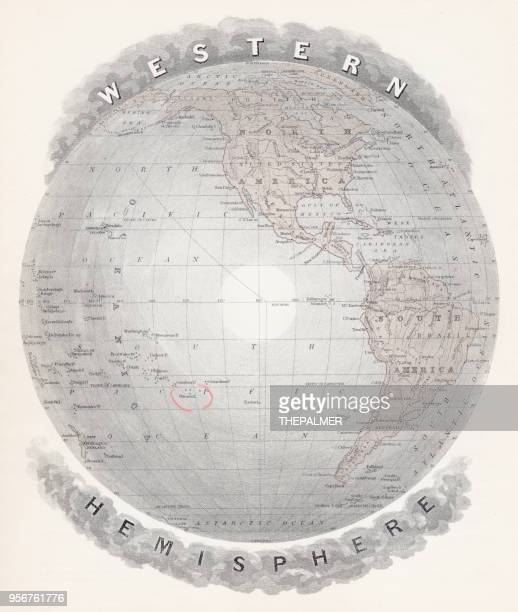 Map of Western hemisphere 1877