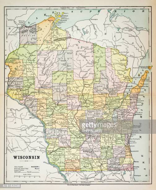 Map of Wisconsin 1883