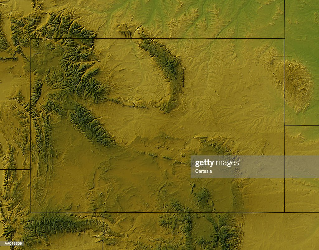 Map Of Wyoming Stock Illustration   Getty Images