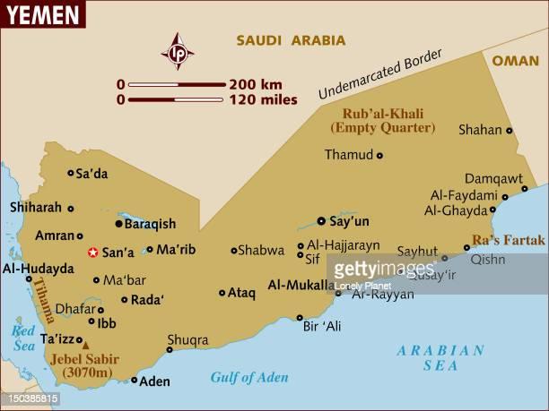 map of yemen. - yemen stock illustrations, clip art, cartoons, & icons