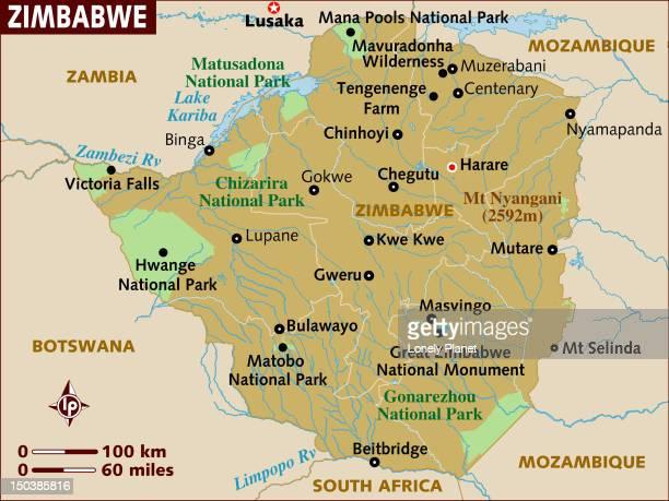 map of zimbabwe. - zimbabwe stock illustrations, clip art, cartoons, & icons