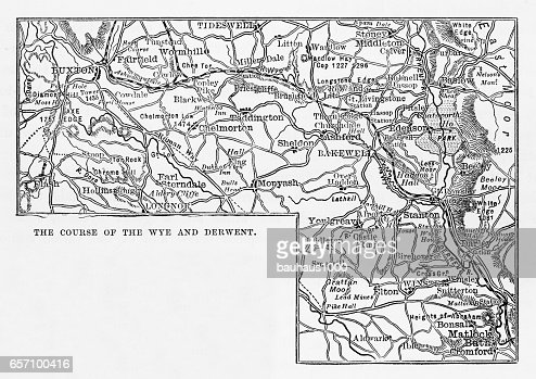 Derbyshire England Map on