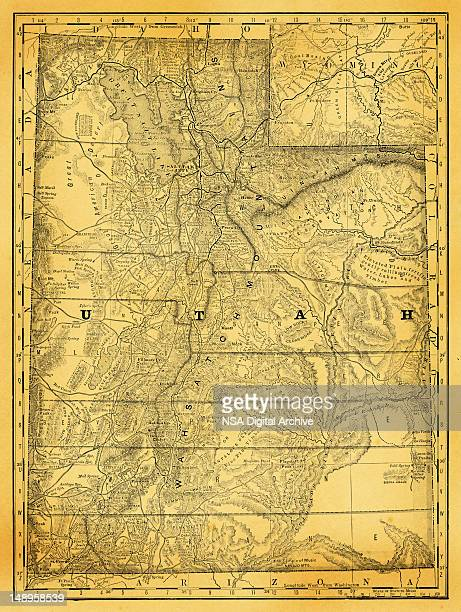 usa maps and illustrations i state of utah - utah stock illustrations, clip art, cartoons, & icons