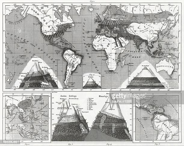 maps of plant distribution - canary islands stock illustrations, clip art, cartoons, & icons