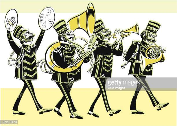 marching band - parade stock illustrations