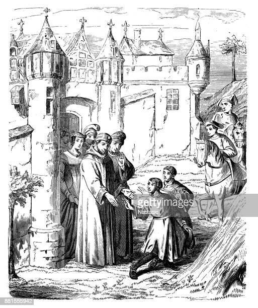 Marco Polo en zijn broer verlaten van Constantinopel, Turkije, ca. 1271