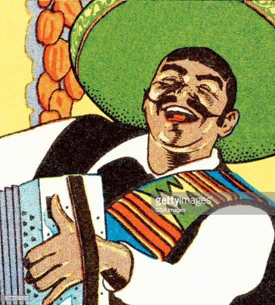 mariachi singer - latin music stock illustrations, clip art, cartoons, & icons