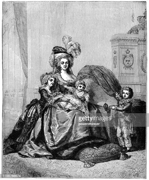 Marie Antoinette and Her Children by Elisabeth Vigee Le Brun - 18th Century