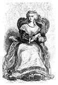 illustration marie antoinette french queen