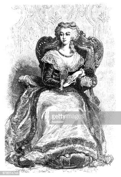 marie antoinette (1755-1793), french queen - french culture stock illustrations