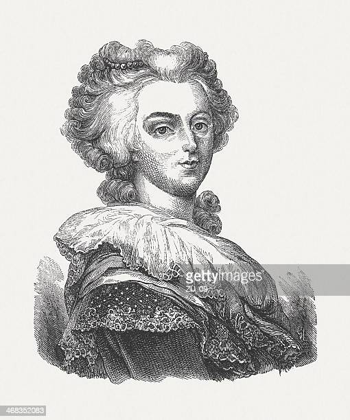 Marie Antoinette (1755-1793), French queen, wood engraving, published in 1851