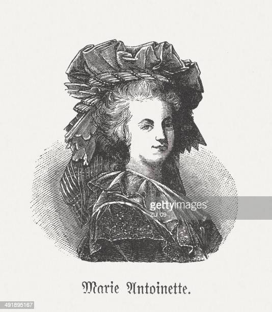 Marie Antoinette (1755-1793), French queen, wood engraving, published in 1881