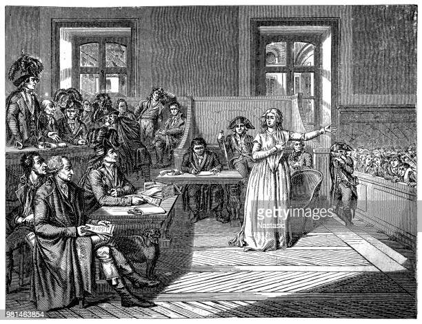 Marie Antoinette in front of the Revolutionary Tribunal