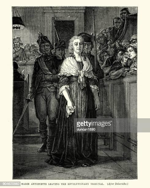 Marie Antoinette leaving the Revolutionary Tribunal