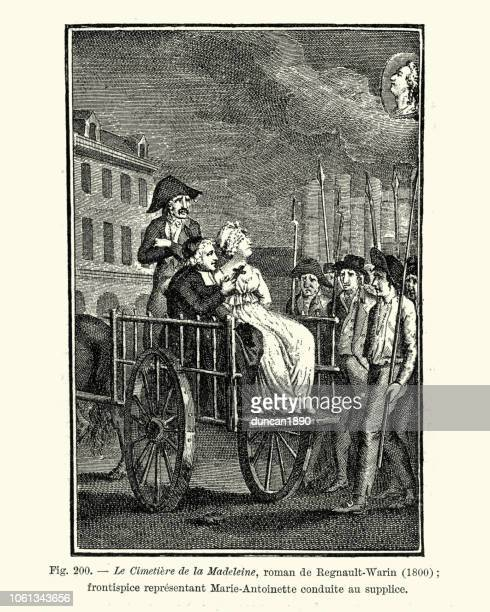 Marie Antoinette taken to the Guillotine on the back of a cart