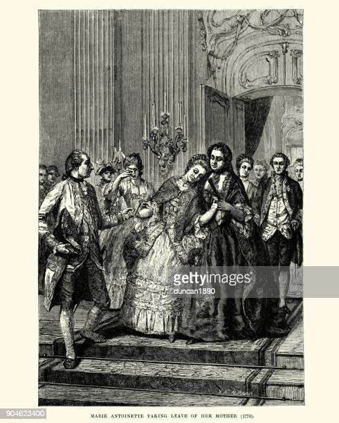 Marie Antoinette taking leave of her mother, 1770