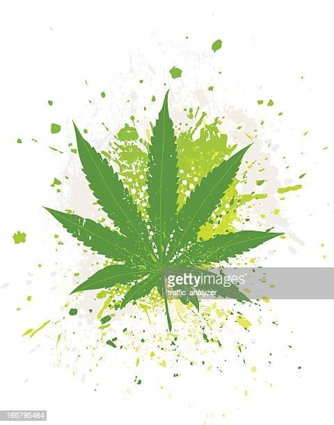 marijuana leaf - hemp stock illustrations, clip art, cartoons, & icons
