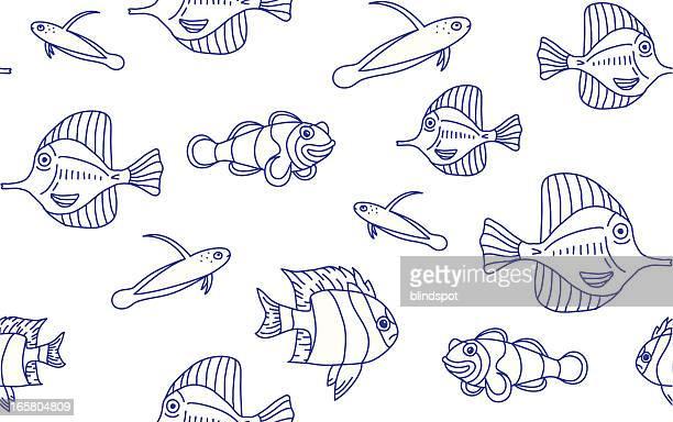 Marine Fish Seamless Background