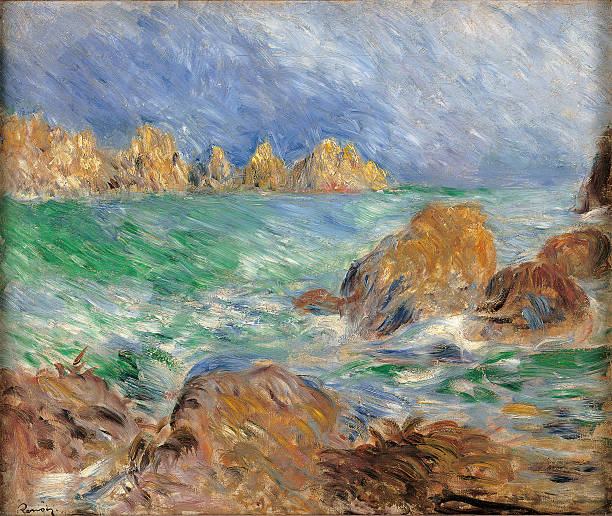 Marine, Guernsey, by Pierre-Auguste Renoir, 1883 about, 19th Century, oil on canvas, cm 46 x 56.