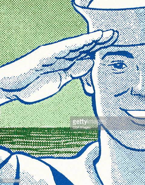 marine saluting - marines military stock illustrations, clip art, cartoons, & icons