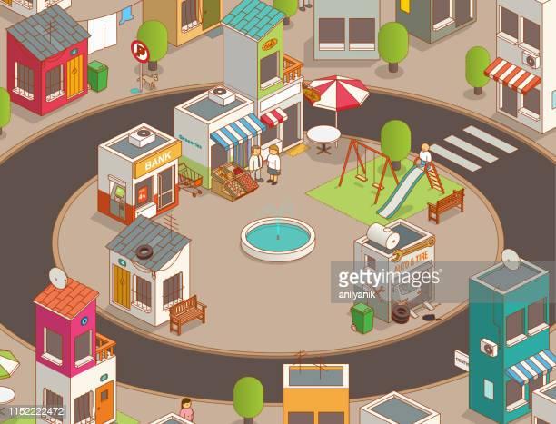 マーケットスクエア - 商売場所 市場点のイラスト素材/クリップアート素材/マンガ素材/アイコン素材