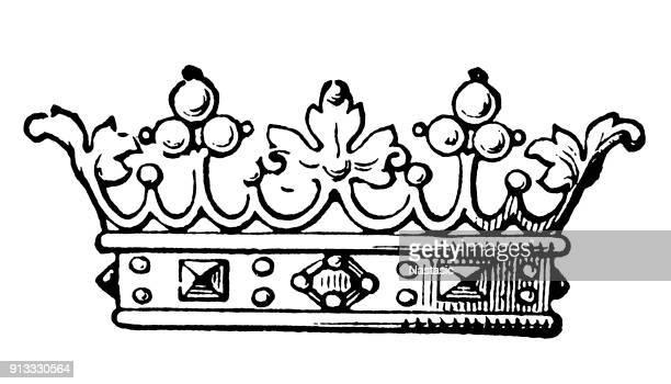 marquis crown - corona zon stock illustrations