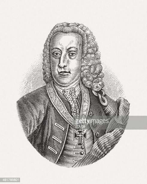 marquês de pombal (c.1699-1782), portuguese statesman, wood engraving, published 1881 - governmental occupation stock illustrations, clip art, cartoons, & icons