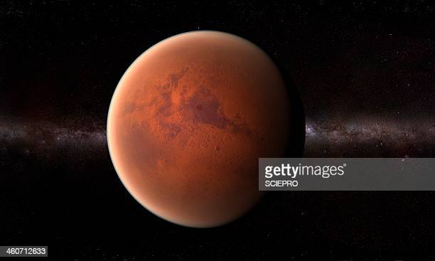 mars, artwork - planet space stock illustrations