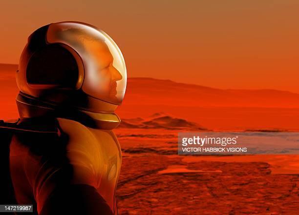 mars exploration, artwork - fog stock illustrations
