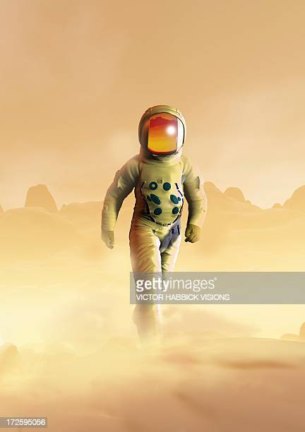 mars exploration, artwork - victor habbick stock illustrations