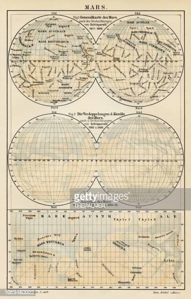 Mars map 1895