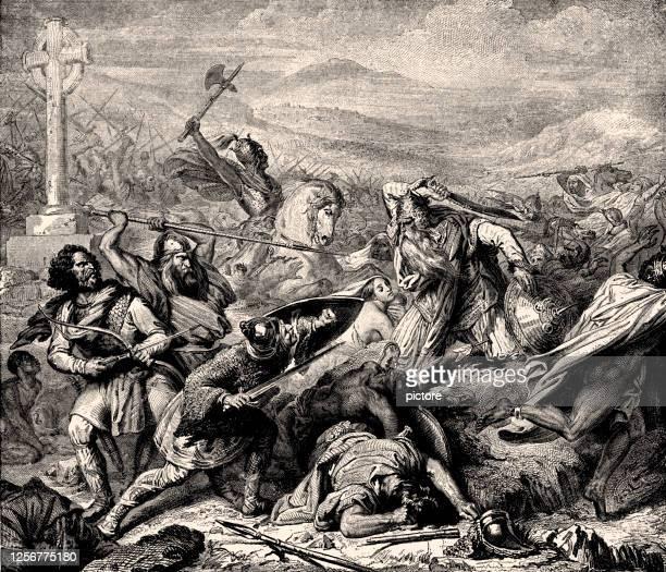stockillustraties, clipart, cartoons en iconen met charles martel(688-741,hertog en prins van de franken (xxxl) - duke