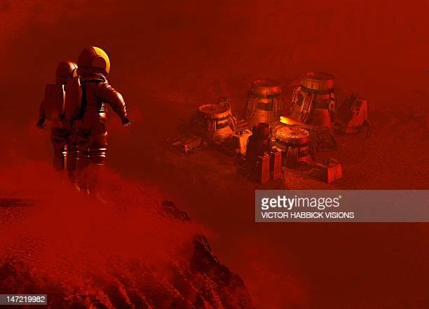 Martian colony, artwork