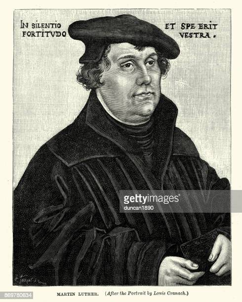 martin luther - protestantism stock illustrations, clip art, cartoons, & icons