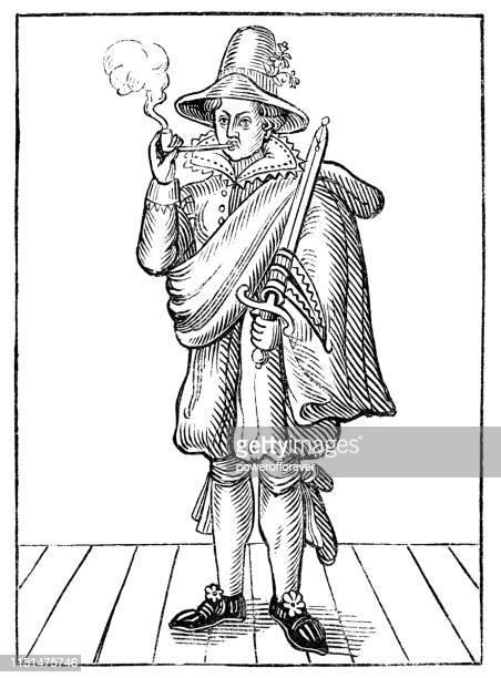 mary frith, moll cutpurse - 17th century - infamous stock illustrations, clip art, cartoons, & icons