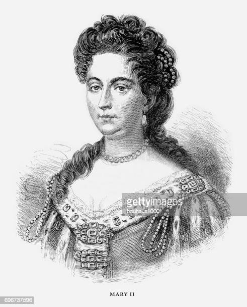 メアリー、女王メアリー ii、英語ビクトリア朝の彫刻、1887 - rms クイーン メアリー 2点のイラスト素材/クリップアート素材/マンガ素材/アイコン素材