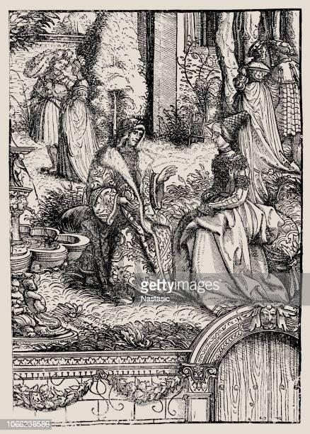 mary, marie, 1457 - 1482, duchess of burgundy and maximilian i, holy roman emperor - emperor stock illustrations, clip art, cartoons, & icons