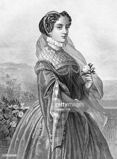 スコットランドのクイーンメリー - スコットランド メアリー女王点のイラスト素材/クリップアート素材/マンガ素材/アイコン素材