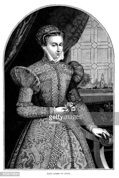 mary, queen of scots - queen royal person stock illustrations, clip art, cartoons, & icons