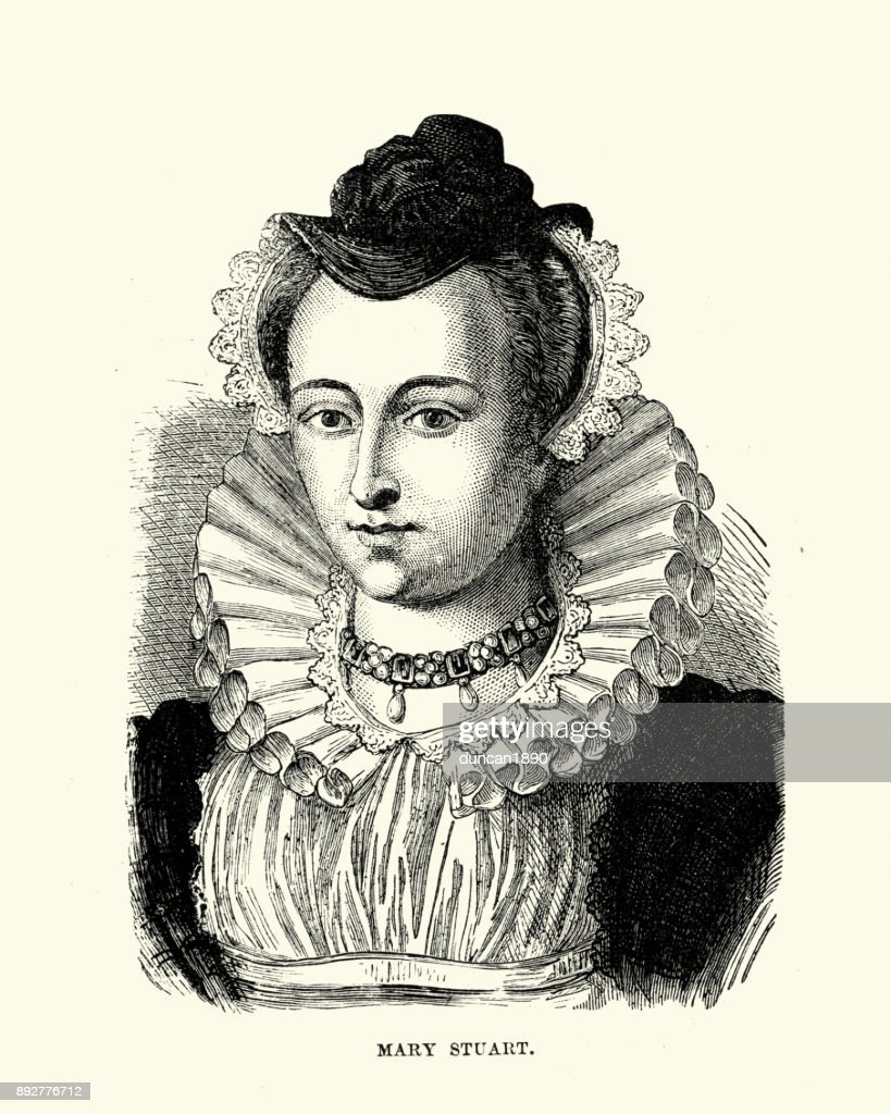 Mary, Queen of Scots : stock illustration