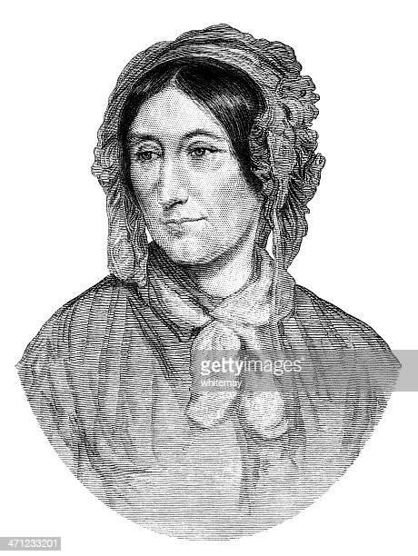メアリー・ソマーヴィル、数学者(1875 図) - マサチューセッツ州サマービル点のイラスト素材/クリップアート素材/マンガ素材/アイコン素材