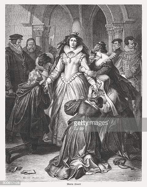 Mary Stuart before their execution, published in 1875