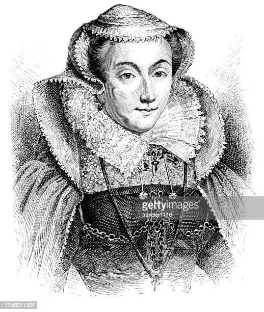 メアリー・スチュアート - スコットランド メアリー女王点のイラスト素材/クリップアート素材/マンガ素材/アイコン素材