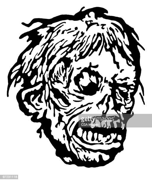 mask - zombie stock illustrations, clip art, cartoons, & icons