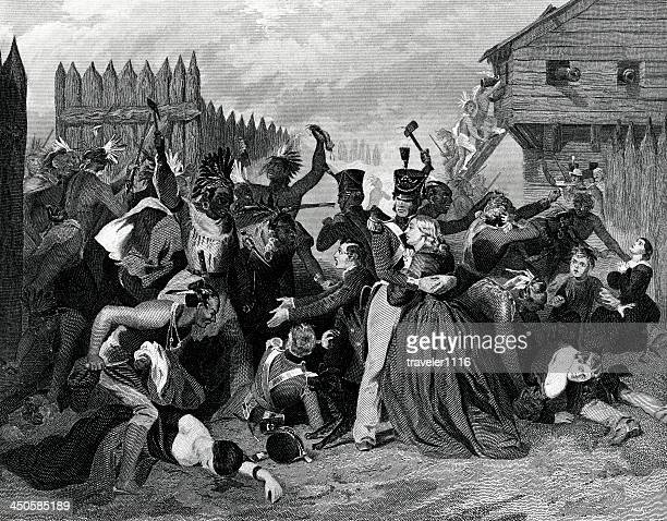 massacre at fort mimms - alabama stock illustrations, clip art, cartoons, & icons